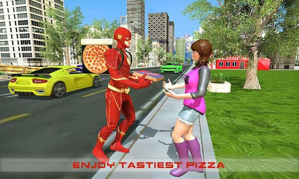 Flash Speed Hero Pizza Delivery Duty screenshot 2
