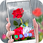 Rose Live Wallpaper 2018 with Waterdrops icon