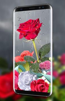 Rose Live Wallpaper 2018 with Waterdrops screenshot 1