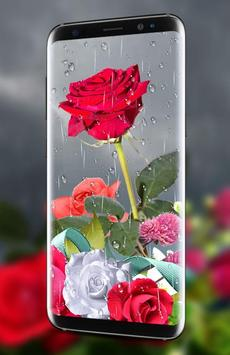 Rose Live Wallpaper 2018 with Waterdrops screenshot 2