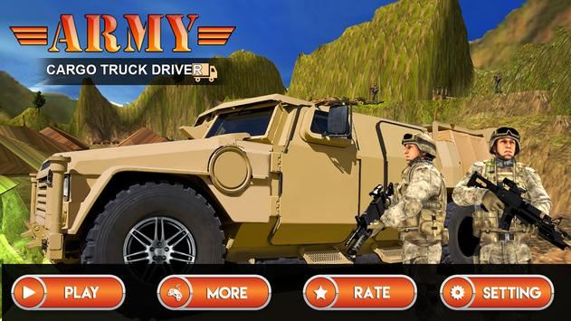 Army Cargo Truck Driver poster