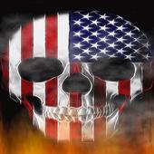 USA Fire Skull Live Wallpaper icon