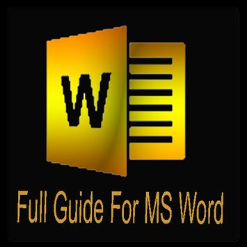 Full Guide For MS Word poster