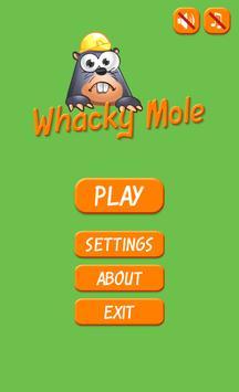 A Whacky Mole poster