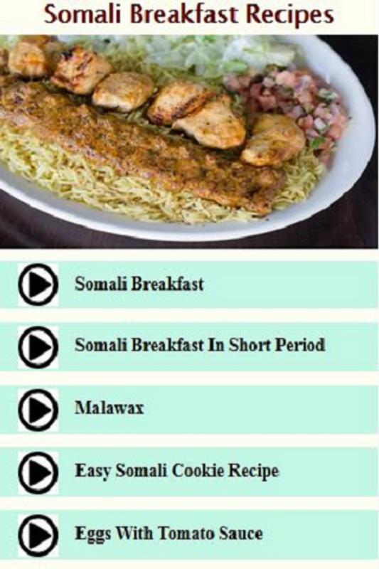 Somali breakfast recipes videos descarga apk gratis msica y audio somali breakfast recipes videos captura de pantalla de la apk forumfinder Image collections