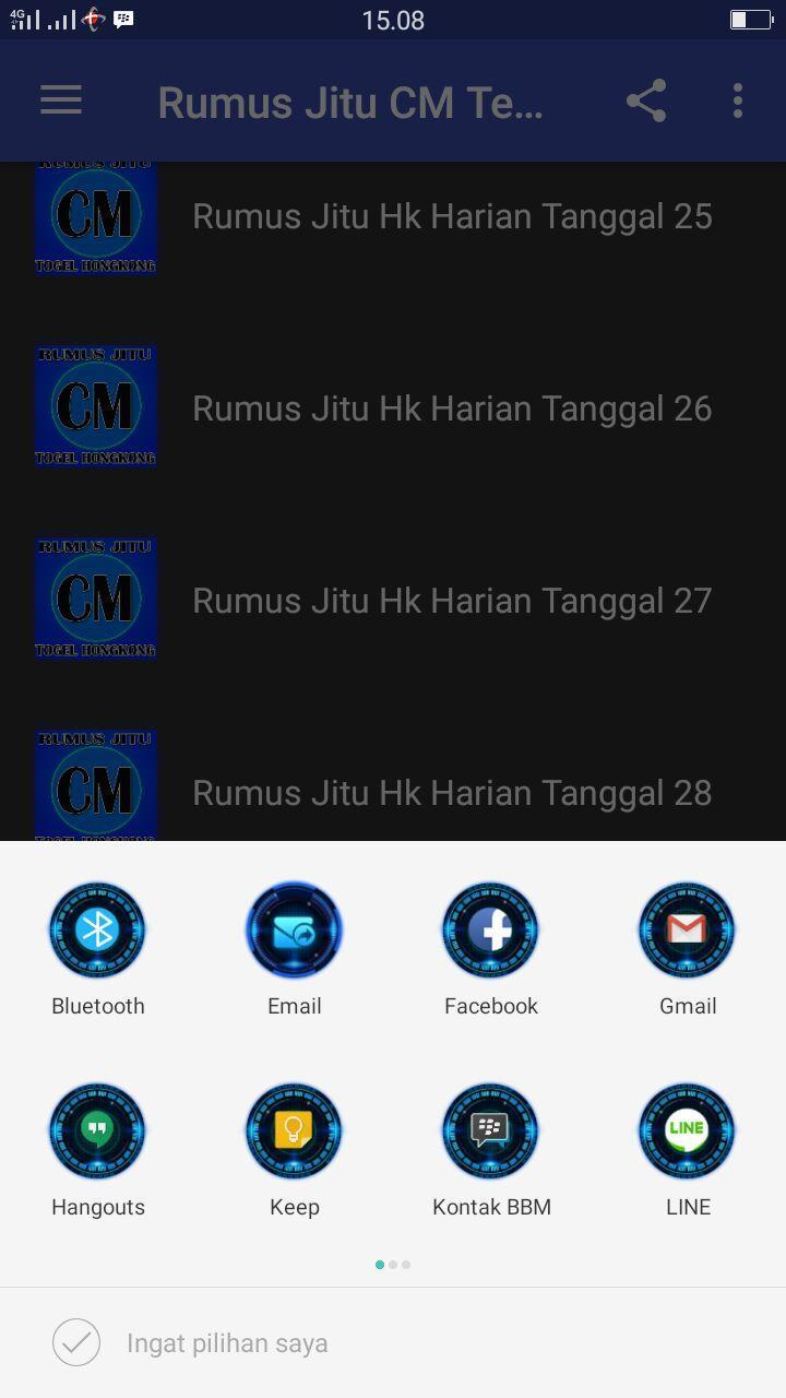 Rumus Jitu CM Togel Hongkong for Android - APK Download
