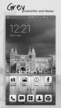 Grey Launcher Theme FREE screenshot 4
