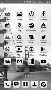 Grey Launcher Theme FREE poster