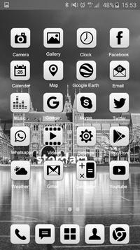 Grey Launcher Theme FREE screenshot 1