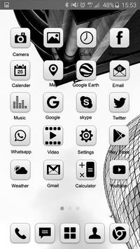 Grey Launcher Theme FREE screenshot 2