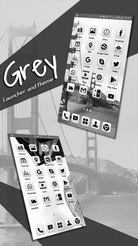 Grey Launcher Theme FREE screenshot 3