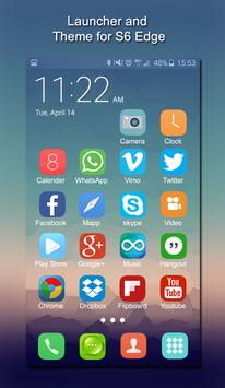 Tema para Samsung S6 Edge, Smart, Clean Launcher captura de pantalla 2
