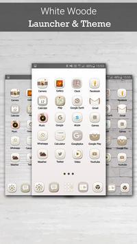 White Wooden Launcher Theme apk screenshot