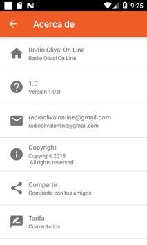 Radio Olival On Line apk screenshot