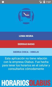 Horarios Olabus screenshot 1