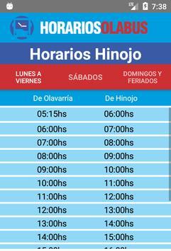 Horarios Olabus screenshot 3