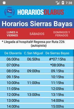Horarios Olabus screenshot 4