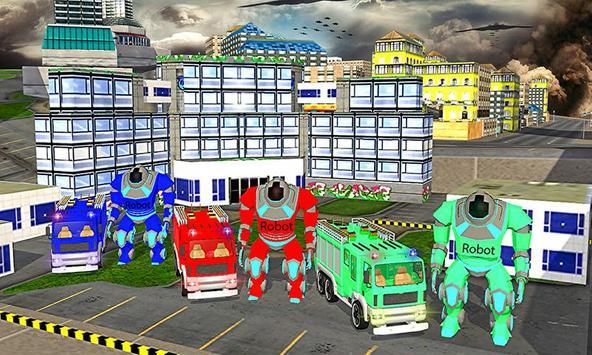 American Truck Firefighter Flying 911 Rescue Robot screenshot 4