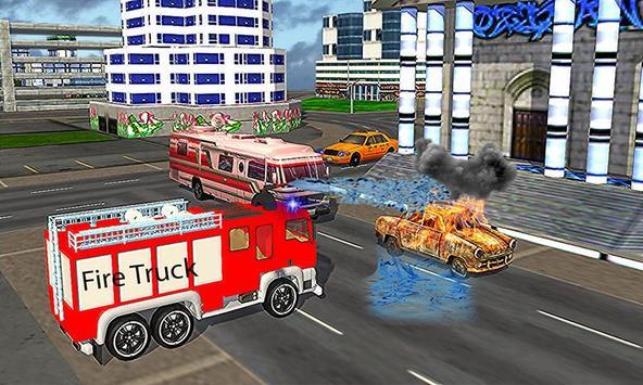 American Truck Firefighter Flying 911 Rescue Robot screenshot 7