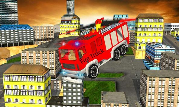 American Truck Firefighter Flying 911 Rescue Robot poster