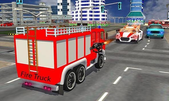American Truck Firefighter Flying 911 Rescue Robot screenshot 3