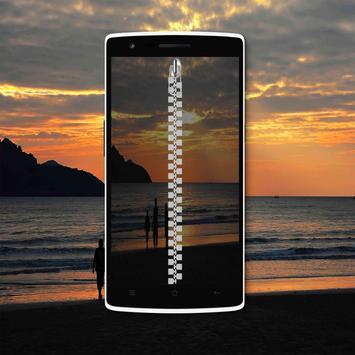 Sunset Zipper Lock Screen poster