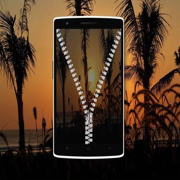 Sunset Zipper Lock Screen screenshot 12