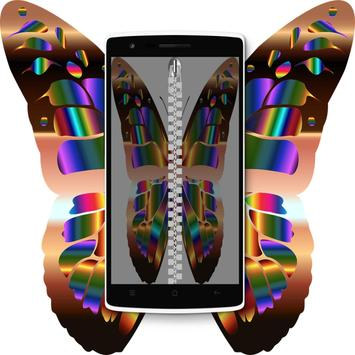 Shiny Butterfly Zipper LS screenshot 7