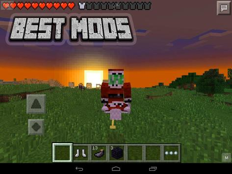 Mods for Minecraft mcpe PE poster