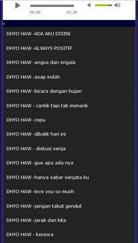 lagu dhyo haw lengkap apk screenshot