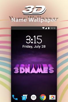 3D My Name Live Wallpaper Poster Screenshot 1