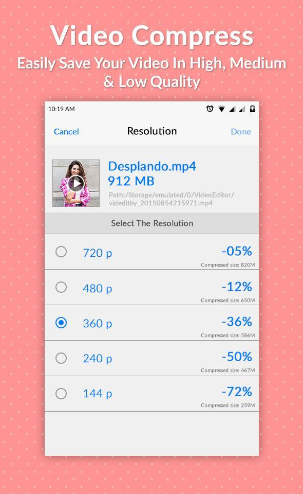 Fast Video Compressor and Size Reducer for Android - APK