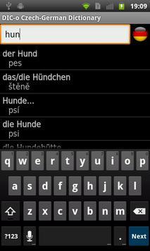 Czech-German offline dict. apk screenshot