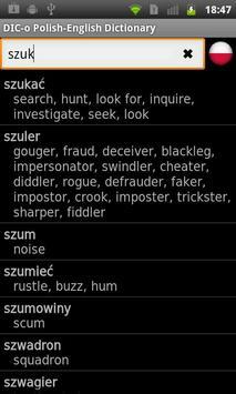 Polish - English offline dict. apk screenshot
