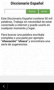 Diccionario Español poster