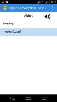 English Malayalam Dictionary screenshot 10