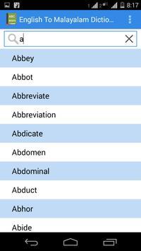 English Malayalam Dictionary screenshot 1