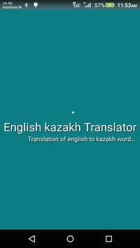 English kazakh Translator poster