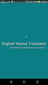 English Hausa Translator poster