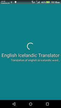 English Icelandic Translator poster