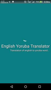 English Yoruba Translator poster