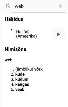 English-Estonian dictionary poster