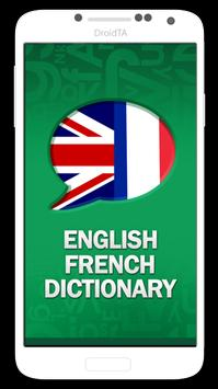 English French Dictionary poster