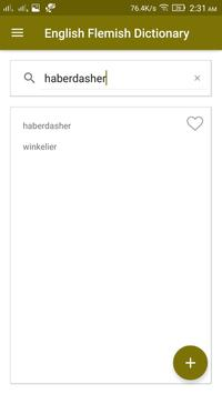 English Flemish Dictionary screenshot 1