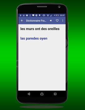 Français Espagnol Dictionnaire screenshot 4