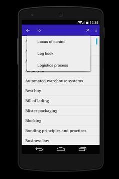 logistique anglais <> francais apk screenshot