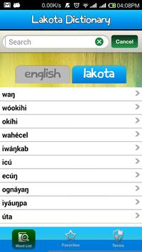 Lakota Language Dictionary apk screenshot