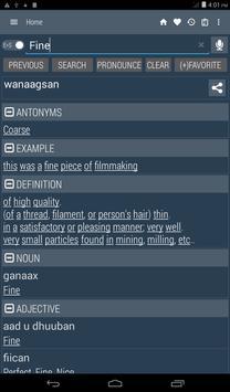 English Somali Dictionary screenshot 16