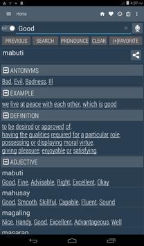 English Filipino Dictionary captura de pantalla de la apk