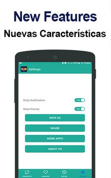 Spanish English Translator & English to Spanish apk screenshot